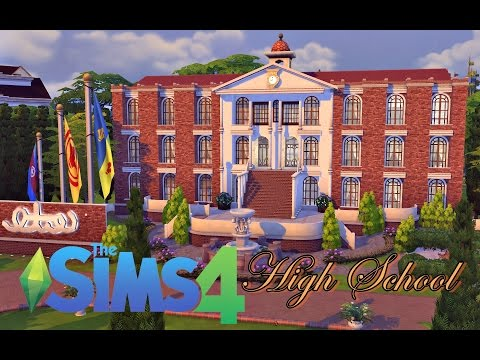 High School │The Sims 4 (Speed Build)