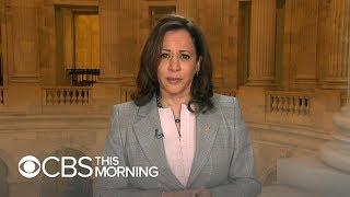 "Sen. Kamala Harris says she believes Kavanaugh accuser: ""She has nothing to gain"""