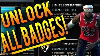 NBA 2K16 Tips: How To Unlock ALL BADGES in MyCareer - How To Get ANY Badge in 2K16!