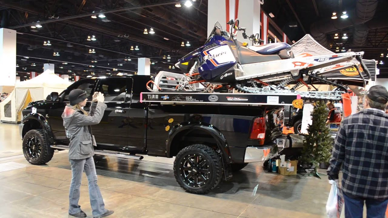 Twin Snowmobile Rack For Pick Up Trucks From Edge Sportman