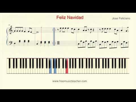 """How To Play Piano: Jose Feliciano """"Feliz Navidad"""" Piano Tutorial by Ramin Yousefi"""