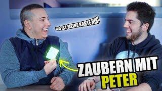 KARTENTRICKS mit PETER (Peters Kopf tut mal wieder weh...)