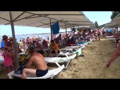 #Анапа  2 сентября 2018г.Центральный пляж переполнен/ Казачий рынок