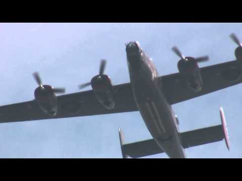 Collings Foundation Consolidated B-24 Liberator takes off from NASA