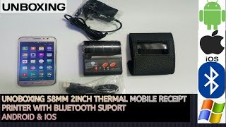 UNBOXING HT202  moblie receipt printer with bluetooth support android &ios