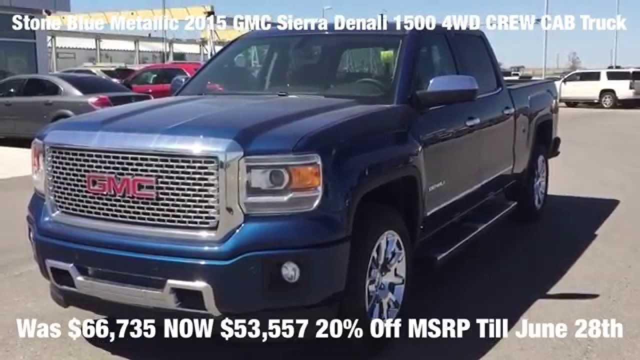 Blue Gmc Truck >> Blue 2015 Gmc Sierra Denali 1500 4wd Crew Cab Full Size Truck At