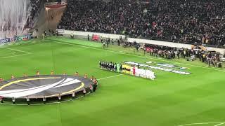 Eintracht Frankfurt - Olympique Marseille Choreo und Aufstellung 29.11.2018