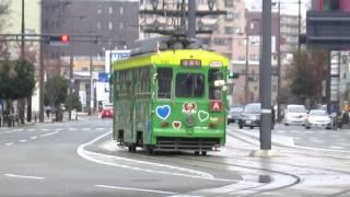 熊本駅前駅にて.