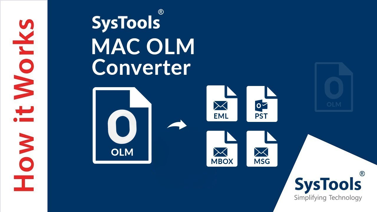 MAC OLM Converter - Bulk Export Outlook for Mac OLM Files into Multiple  File Formats