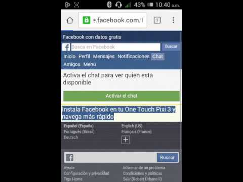 FACEBOOK GRATIS TIGO COLOMBIA (free.facebook.com)