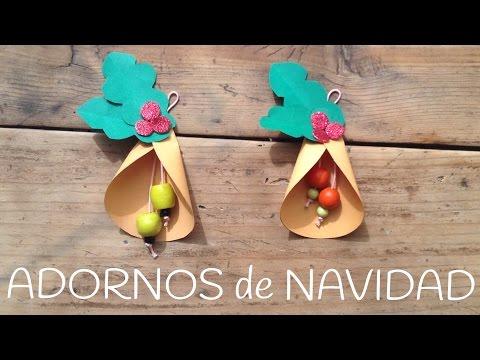 Cómo hacer campanas de navidad, adornos para el árbol de navidad