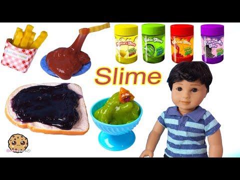 Food Slime In Refrigerator ! American Girl Boy Doll - Cookie Swirl C Video