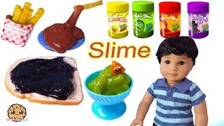 Food Slime In Refrigerator ! American Girl Boy Doll - Cookie Swirl C Video