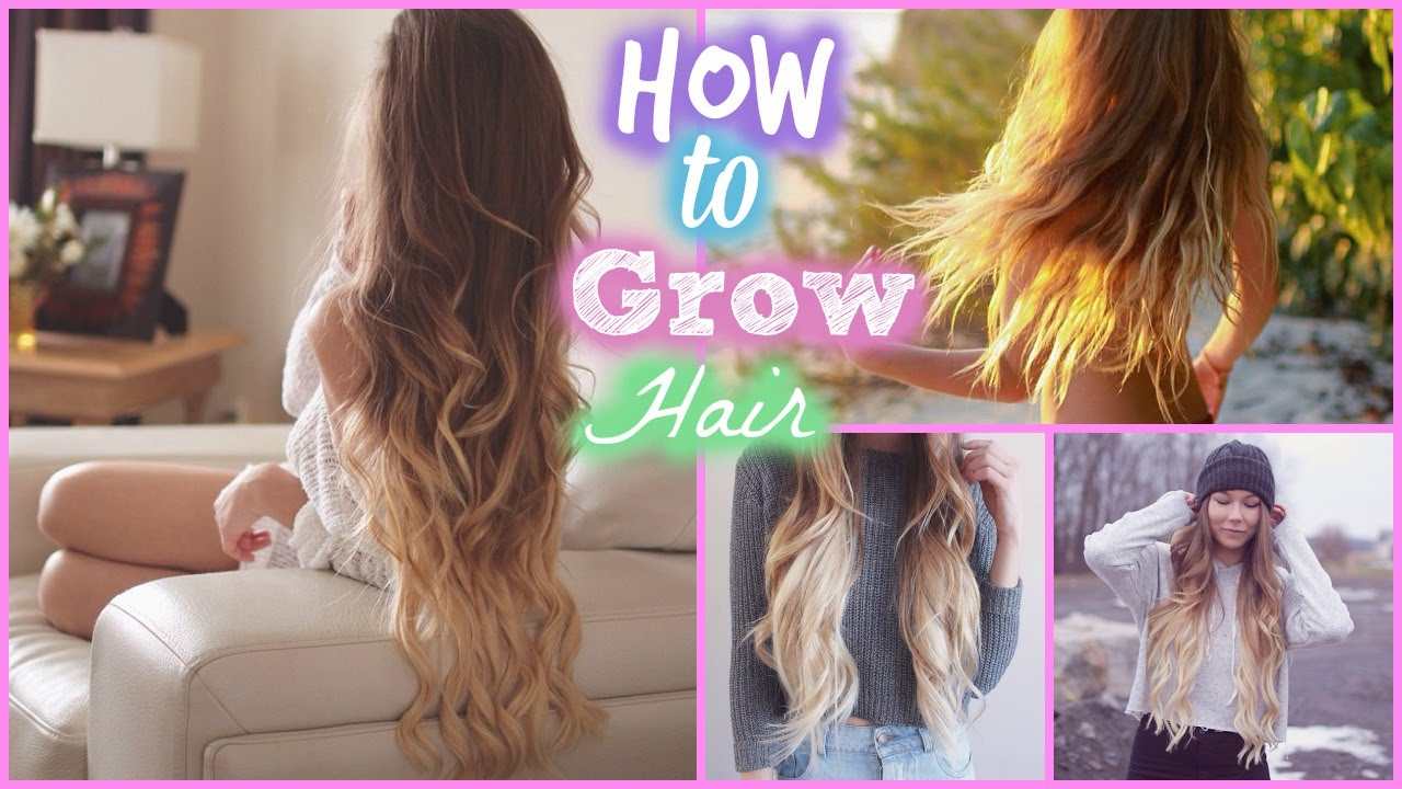 How To Grow Out Your Hair Longer Faster Youtube
