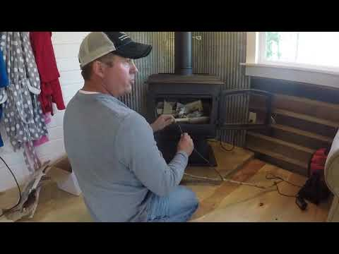 Building a hearth and installing wood stove and chimney