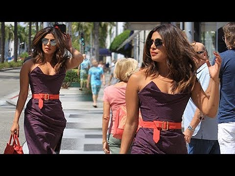 Priyanka Chopra's Gorgeous Look While Shopping in Beverly Hills