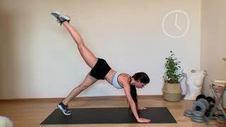 Круговая жиросжигающая тренировка на все тело в домашних условиях без дополнительного оборудования