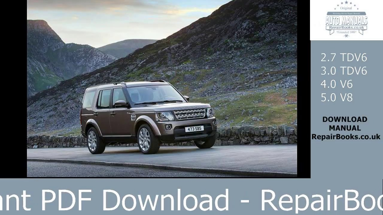 Land Rover Discovery 4 Repair Manual ( Instant PDF Download )