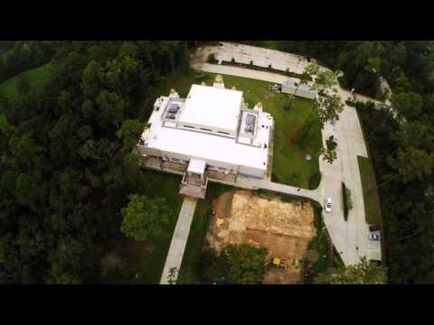 Hindu Temple of the Woodlands Aerial Views