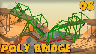 "Poly Bridge Gameplay Part 5 - ""a Criss Crossed Mess!!!"" (bridge Building Game)"
