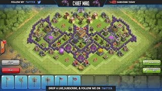 Clash of Clans - Best Town Hall 8 Batman Base Speed Build 2015