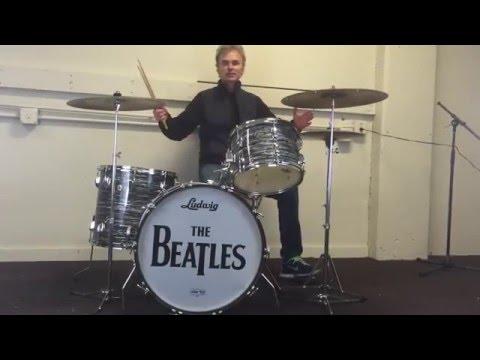 """Ringo-Beatle"" Ludwig Black Oyster Drum Kit. 1965, All Original. Best Ever!"