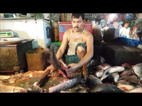 Amazing Fish Slice Skill at Karwan Bazar Fish Market | Faster Fish Cutting Ever