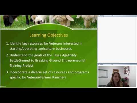 Resources for Veteran Farmers/Ranchers