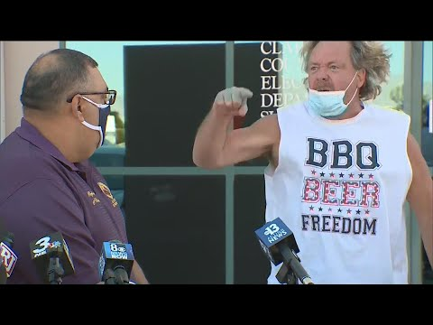 Man Crashes Press Conference in Nevada