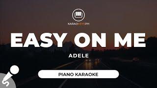 Easy On Me - Adele (Piano Karaoke)