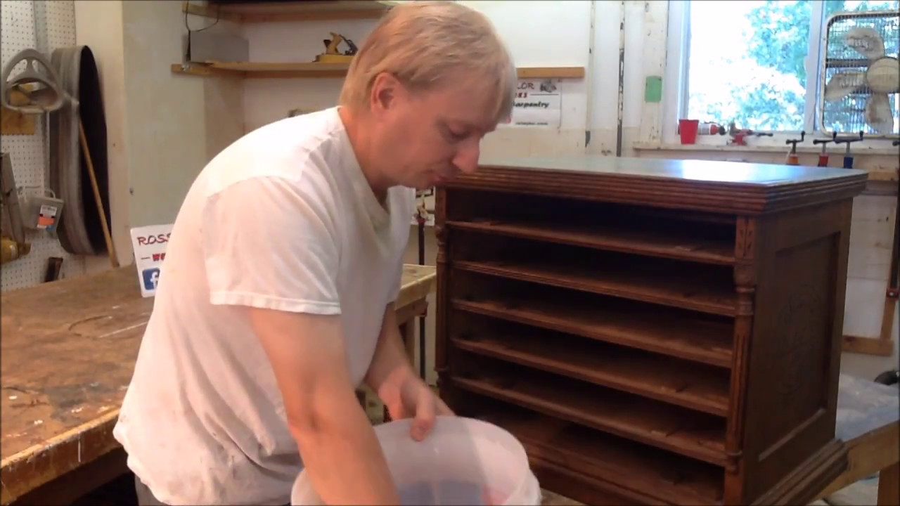 CLEANING ANTIQUE FURNITURE WITH TSP- PART 2/ RESTORATION ...