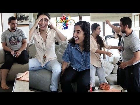 Aamir Khan's BIG SURPRISE For Fatima Sana Shaikh and  Sanya Malhotra |  Behind The Scenes Of DANGAL