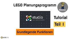 Stud.io Tutorial I TEIL 1 I LEGO® Planungsprogramm von Bricklink I Grundlegende Funktionen