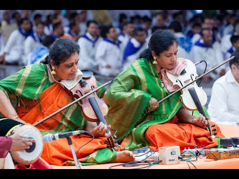 Classical Violin Concert by duo violinist Dr. Lalitha and Nandini sisters, Puttaparthi - 8 July 2017