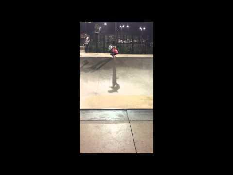 Skater Sierra Kerr 7 year old girl skateboarding. Josh Kerr's daughter skateboarding