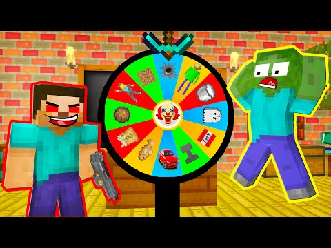 Monster School : SPIN THE WHEEL FUNNY CHALLENGE - Minecraft Animation