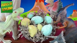 Dinosaur eggs - surprise fizzing hatching dino toys