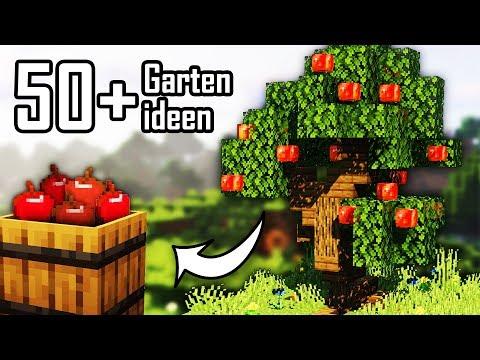 +50 Minecraft Garten Ideen 🍀 50 + Minecraft Bau Ideen