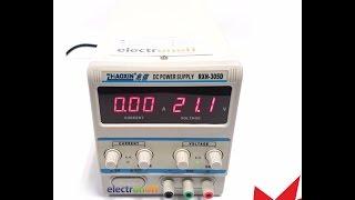 лабораторный блок питания RXN-305D. Запуск электродвигателя. Регулировка тока и напряжения