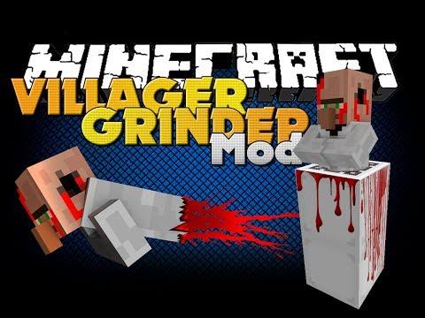 minecraft-mod---villager-grinder-mod---new-items-and-death