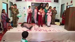 exclusive performance on peshawar attack tablo in al ashraf grammar school kamoke