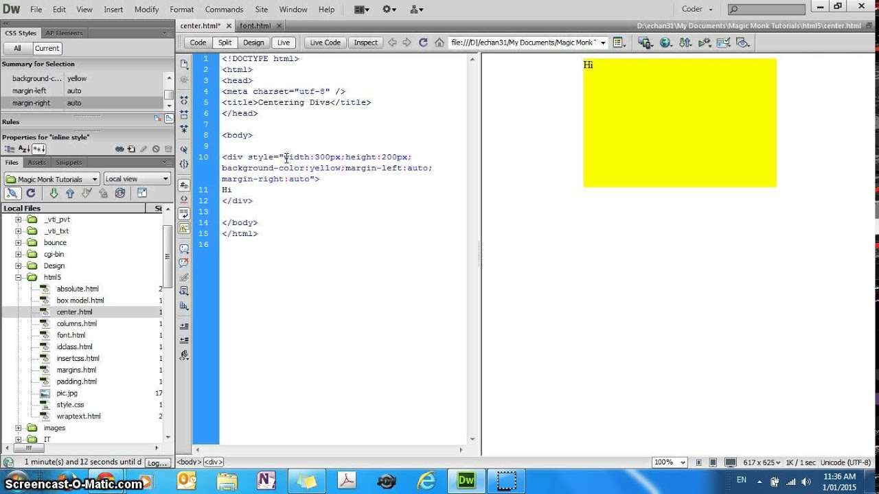 how to set background image in html5