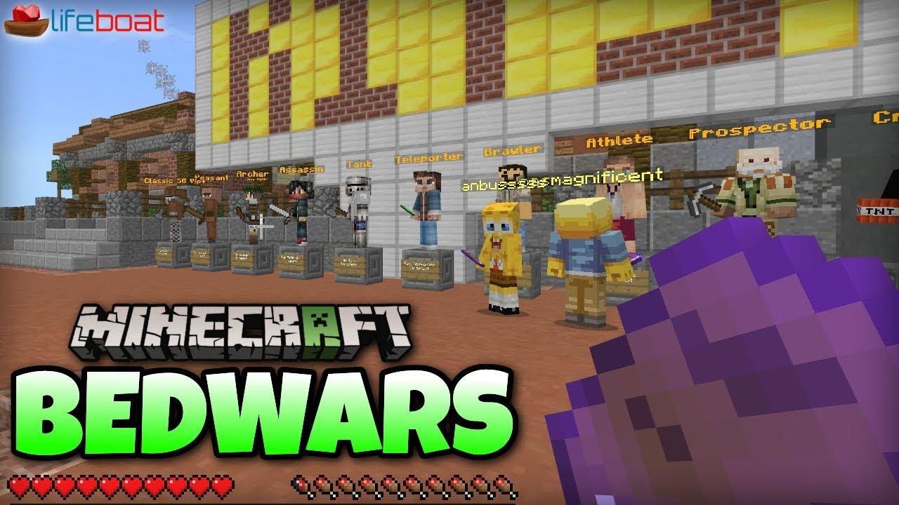 Minecraft BEDWARS Server Lifeboat Xbox One / MCPE / Windows