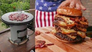 Smashed Burger vom EcoZoom Raketenofen