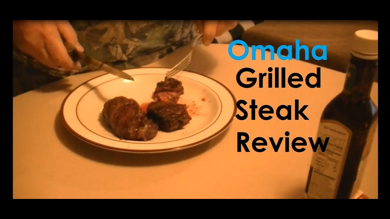 Omaha Steaks Filet Mignon Grilled Steak Review Youtube