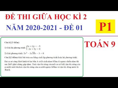 ĐỀ THI GIỮA HỌC KÌ 2 MÔN TOÁN LỚP 9 NĂM HỌC 2020-2021 - ĐỀ SỐ 01 - P1