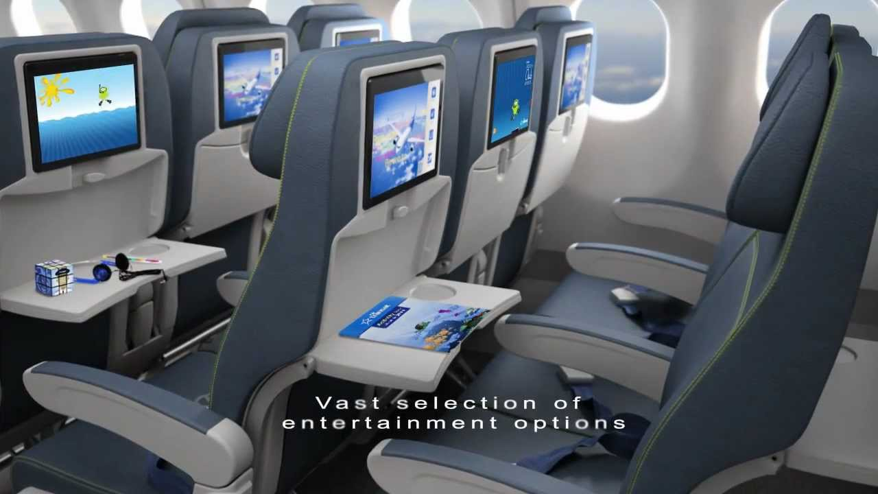 Air Transat New Cabin Featuring Rave In Flight Entertainment Youtube