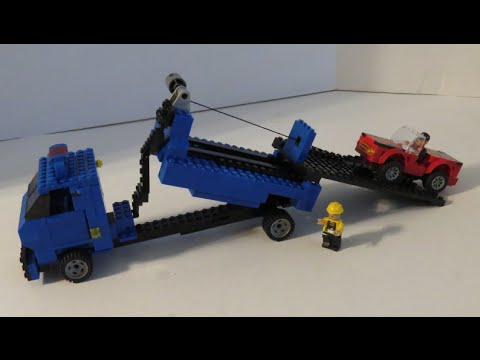 LEGO Custom Tow Truck MOC Working Winch Manipulates Vehicles & Deck ...