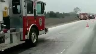 Truck winter crash
