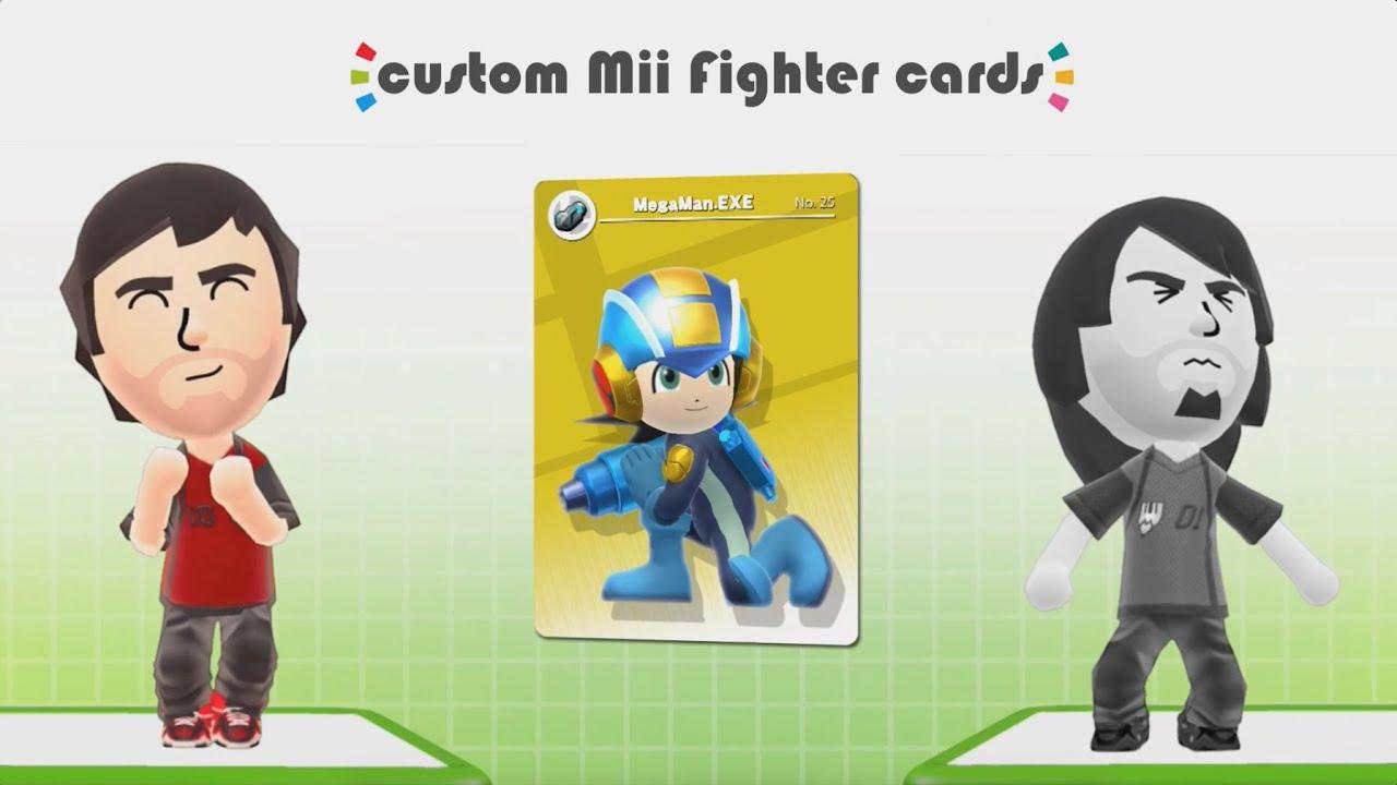 19 Mii V Mii Custom Megaman Exe Amiibo Card